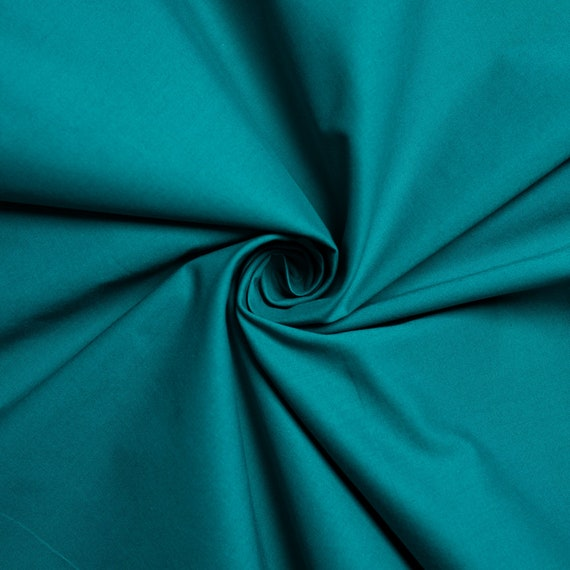 Teal Solid Poplin, Birch Organic Fabrics, sold by the 1/2 yard or the yard