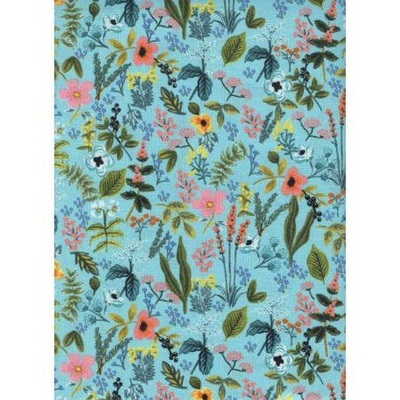 AB8044-003 Amalfi - Herb Garden - Mint Fabric- Cotton/quilting cotton- Rifle Paper Co-Cotton and Steel/RJR- Sold by the 1/2 yard or the yard