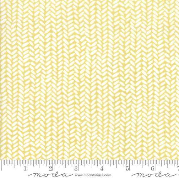 Goldenrod Herringbone 36055-17-Gold, By One Canoe Two for Moda Fabric, sold by the 1/2 Yard or the yard - Cut Continuously