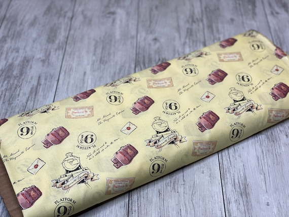 Harry Potter, Wizarding World, Soft Wash, Train Yellow, 100% Cotton By Camelot Fabric- Sold by the 1/2 yard or the yard