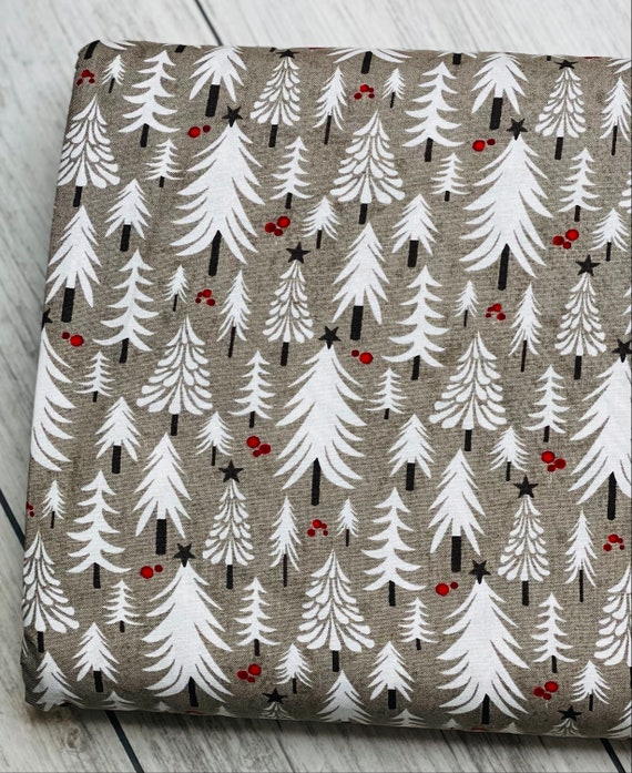 Hustle And Bustle, Trees in Tinsel, 30662 18 Moda, By Basic Grey, sold by the 1/2 yard or the yard