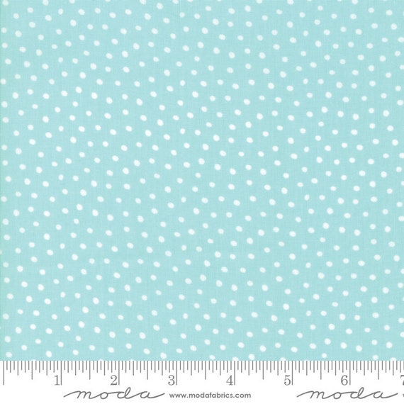 Snow Day Snow Dots Aqua By Stacy Lest Hsu 20637 124 Moda, sold by the 1/2 yard