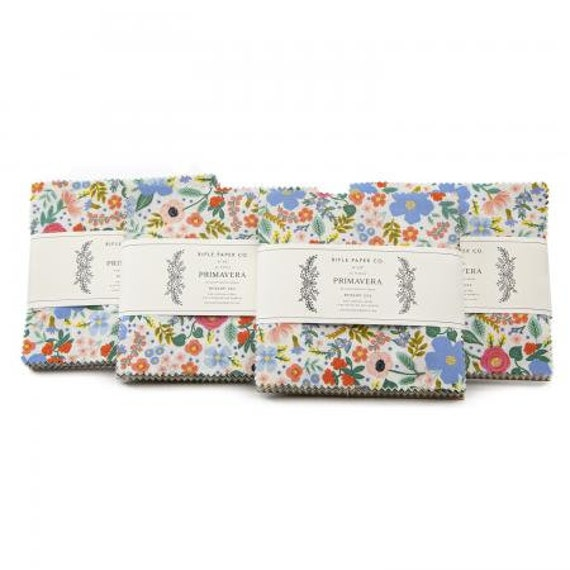 Primavera- Precuts-  5X5 Pack, by Rifle Paper Co. for Cotton and Steel/RJR- RP300P-5X5