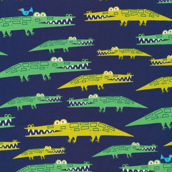"""Cloud 9 Alligators Laminate - 60"""" wide- Sold by the 1/2 yard or the yard"""