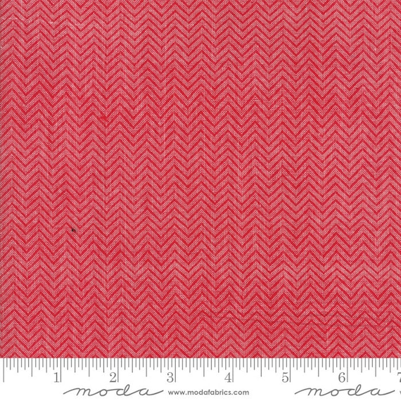 Picnic Basket, Dobby Red, 12134 16 Moda Woven, sold by the 1/2 Yard - Cut Continuously