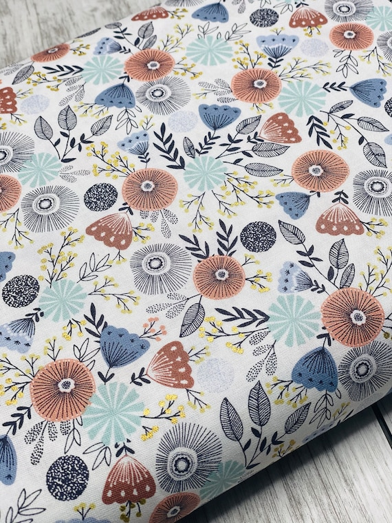 Summer in the Cotswolds - English Garden - Evening Glow Metallic Fabric- JM201-EG2M- By RJR- sold by the 1/2 yard or the yard