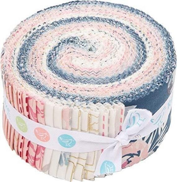 Blooms & Bobbins Rolie Polie 40 2.5-inch Strips, by Melissa Mora for Riley Blake RP-8500-40- Precuts-