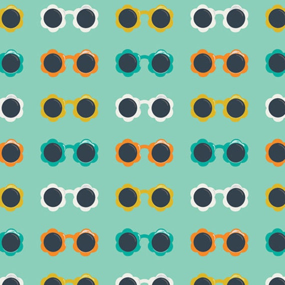 Sunny Shades in Mint, From Summer Side, By Dana Willard for Art Gallery Fabrics, sold by the 1/2 yard or the yard