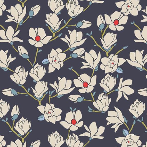 Magnolia Nightfall, From Charleston, by Amy Sinibaldi, for Art Gallery Fabrics, sold by the 1/2 yard or the yard