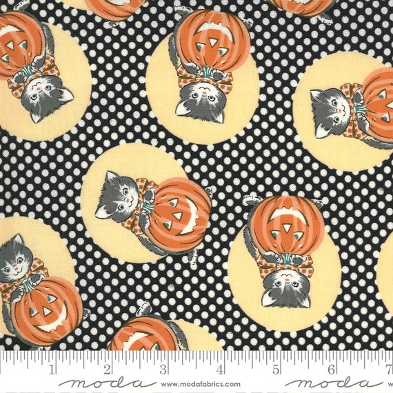 Kitty Corn Midnight, 31171 17 Moda, By Urban Chiks, for Moda, sold by the 1/2 yard or the yard