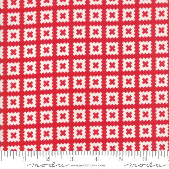 Little Snippets- 55184-11 Red- by Bonnie & Camille for Moda Fabrics-  Sold by the half-yard cut continuous