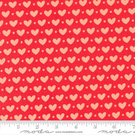 Sincerely Yours, Geranium Hearts, 37610 11 Moda, By Sherri & Chelsi, sold by the 1/2 yard or the yard