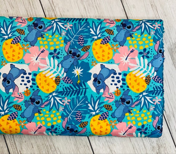 Lilo & Stitch, Stitch in the Jungle - Cotton- Sold by the 1/2 yard or the yard cut continuous from bolt