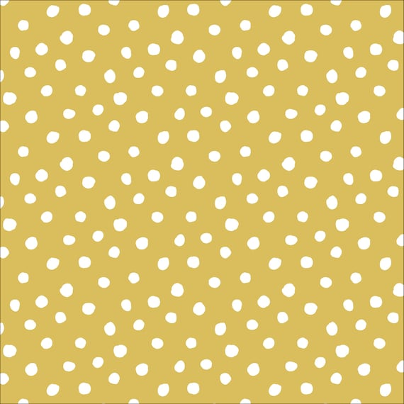Cloud9 Organic, Interlock Stretch Knit, Dots Gold, organic knit, by Jessica Jones, Sold by the 1/2 yard or the yard