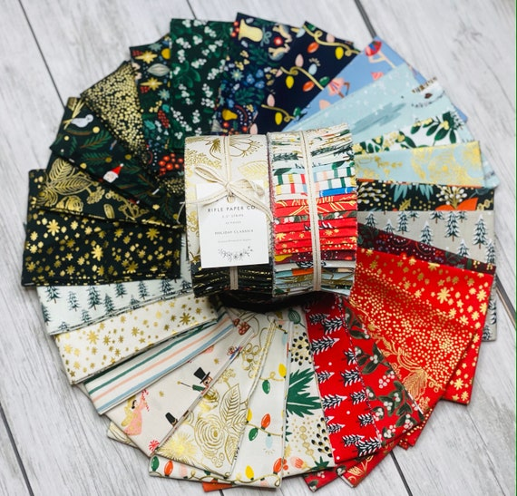 Holiday Classics, Precuts, By Rifle Paper Co, for Cotton and Steel