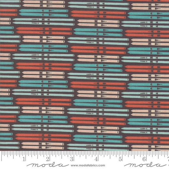 Tahoe Ski Week, Black Diamond, By Mara Penny, 13342 17 Moda, quilting cotton,  Sold by the 1/2 yard or the yard