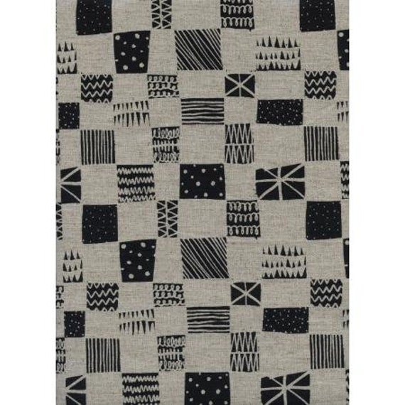 C5060-012 Black & White - Swatch CANVAS Fabric-Cotton and Steel/RJR- Sold by the half-yard cut continuous