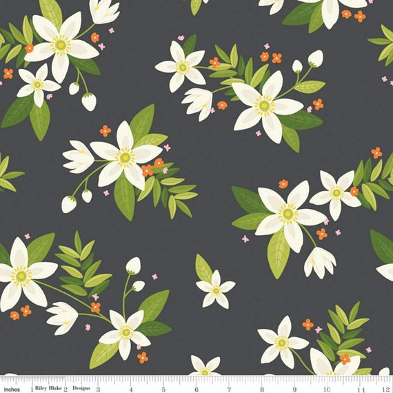 Grove Main Charcoal, By Jill Finley for Riley Blake, sold by the 1/2 yard or the yard