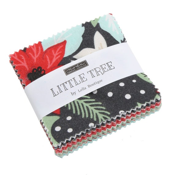 Little Tree Mini Charm Pack - Lella Boutique - Moda Fabrics - Fabric Bundle - Moda Mini Charm Pack - Christmas Fabric - 42 pieces
