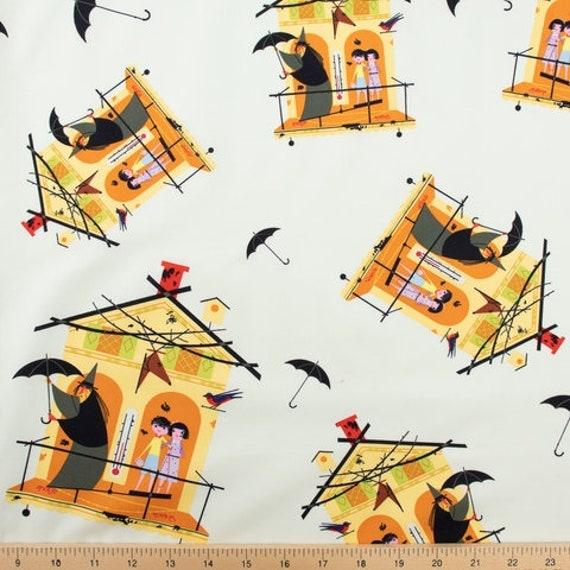 Charley Harper for Birch Organic Fabrics, Halloween, Fair Weather Friends