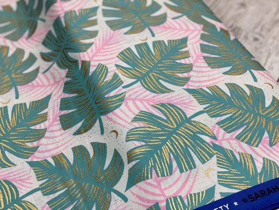 Florida Shade Palms, Water, By Sarah Watts, RS2024 12M Ruby Star, Moda Fabrics, sold by the 1/2 yard or the yard