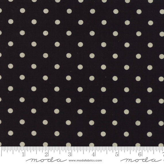 Linen Mochi- Dot Black, 32910 21L Moda, sold by the 1/2 yard or the yard