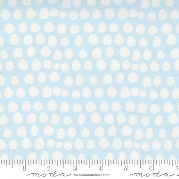 Little Ducklings, in Blue and White dots, 25107 14 Moda, By Paper And Cloth, Sold by the 1/2 yard or the yard