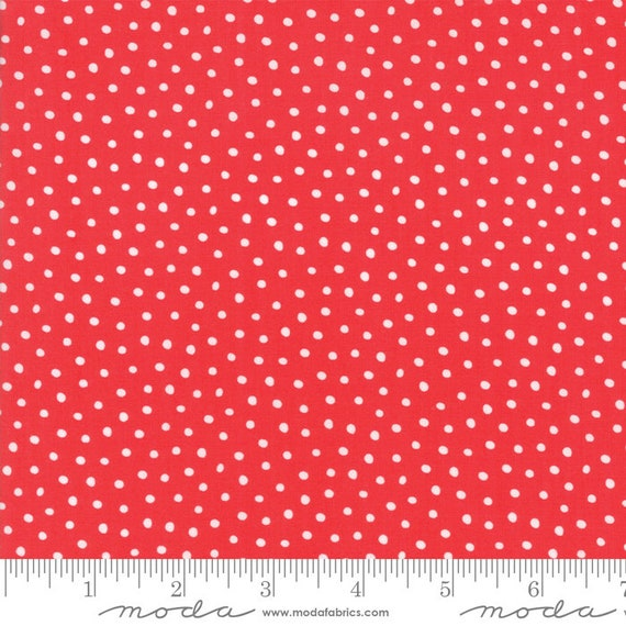 Snow Day Snow Dots Candy By Stacy Lest Hsu 20637 12 Moda, sold by the 1/2 Yard - Cut Continuously