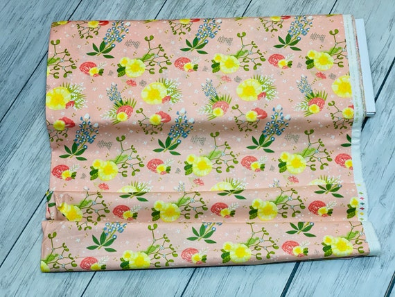 Desert Song, Pink Sand, Desert Flowers, By Mara Penny, 13300 15 Moda, sold by the 1/2 yard or the yard