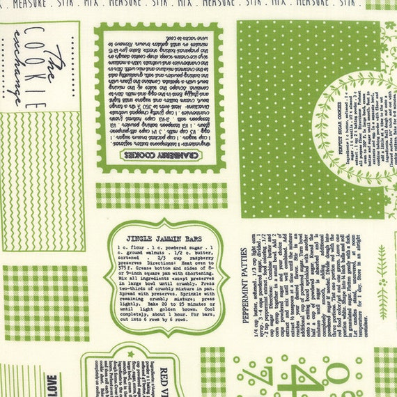 The Cookie Exchange, Grass By Sweetwater 5620 17 Moda- sold by the 1/2 Yard - Cut Continuously