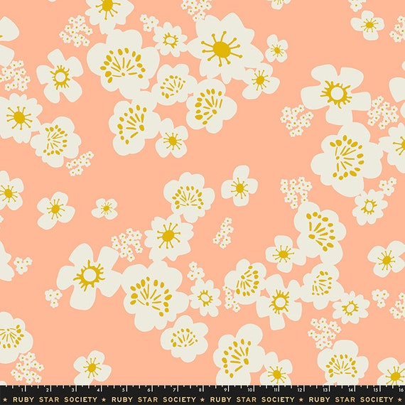 """108"""" Whatnot Wideback Peach, Quilt Back, By Rashida Coleman Hale RS11171 11 Ruby Star, sold by the 1/2 yard of the yard"""