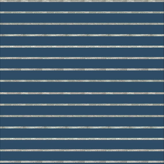 Cloud9, Organic, Interlock Stretch Knit Stripes Blue/Heather Gray, By Jessica Jones, sold by the 1/2 yard or the yard