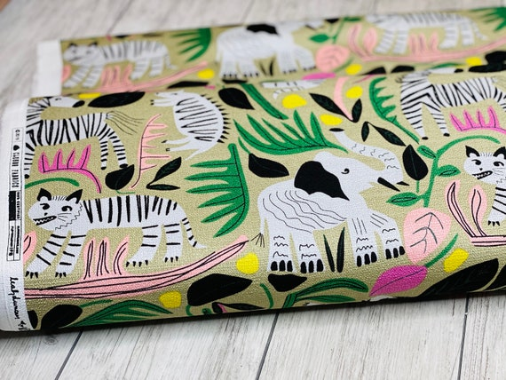Jungle Forest, Organic Cotton Barkcloth, Leah Duncan for Cloud9 Organic Fabrics, sold by the half-yard or the yard
