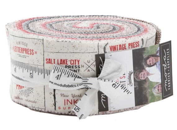 "Moda Fabrics - Precuts- The Print Shop Jelly Roll by Sweetwater - 40, 2.5"" x 42"" Precut Fabric Strips"