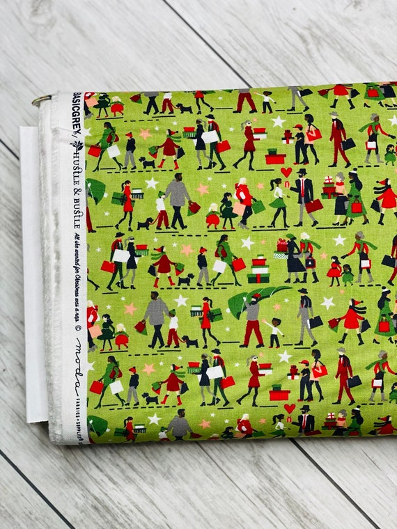 Hustle And Bustle, Shoppers in Pear, 30661 16 Moda, By Basic Grey, sold by the 1/2 yard or the yard