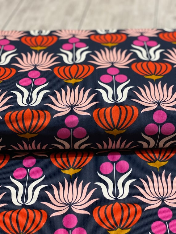 Could9, Organic CORDUROY, A Walk to Remember-Native Flowers, Sold by the 1/2 yard or the yard