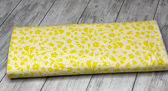 Squeeze-Floral | Figo | Floral- Yellow | 100% cotton | 90300-26 | quilting cotton | Dana Willard | sold by the 1/2 yard or the yard