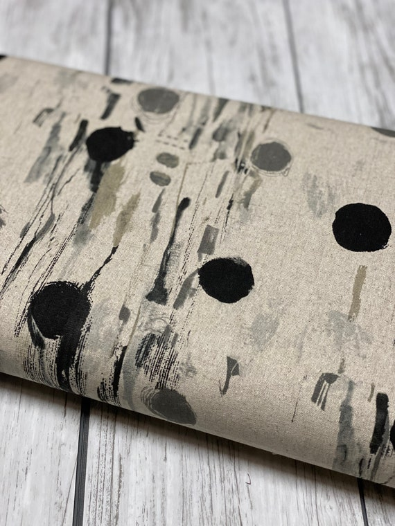 OE102-NE4C Once Upon a Time - Flower Rain - Neutral Canvas Fabric- Cotton and Steel- RJR- Sold by the 1/2 yard or the yard