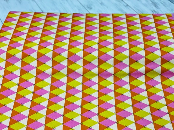 M0060-002 Flutter - Prism - Pink Unbleached Cotton Fabric- Cotton and Steel-RJR-   Sold by the half-yard cut continuous