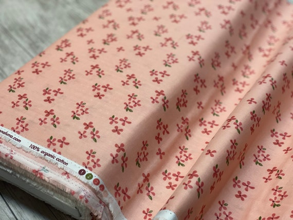 Blossoms Double Gauze- By Monaluna Fabric- Organic Double Gauze- sold by the 1/2 yard or the yard