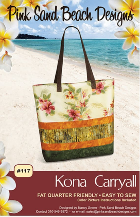 Kona Carryall Pattern, By Pink Sands Desgins