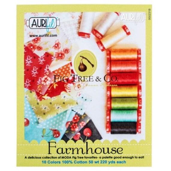 Aurifil-Farmhouse Thread collection By Joanna Figueroa
