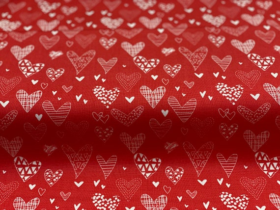 From the Heart, Hearts- Red, by Sandy Gervais, for Riley Blake Designs, sold by the 1/2 yard or the yard