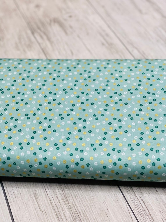 Ahoy! Mermaids Floral Seafoam,  C10346-SEAFOAM, by Melissa Mortenson for Riley Blake Designs, Sold by the 1/2 yard or the yard