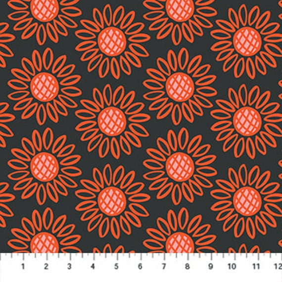 Squeeze Sunflowers, By Dana Willard, Figo Fabric, Quilting cotton, 100% cotton, 90297-99,Sold by the 1/2 yard or the yard