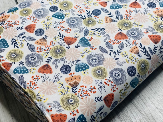 Summer in the Cotswolds - English Garden - Summer Days Metallic Fabric- JM201-EG2M- By RJR- sold by the 1/2 yard or the yard