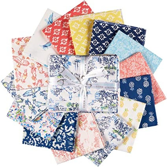 """By the Sea by Laura Ashley for Camelot Fabrics- Precuts- (40) 2.5"""" Strips"""