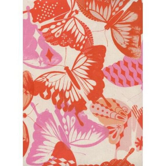 Flutter - Flutter - Orange Unbleached Cotton Fabric-Cotton and Steel-RJR-M0058-004 -