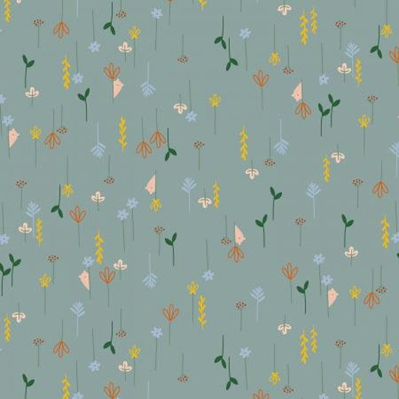 Dear Friends-Hide and Seek- Eucalyptus Fabric- Cotton and Steel- RJR- Sold by the 1/2 yard or the yard