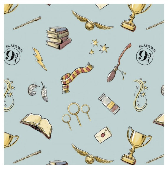 Wizarding World of Harry Potter-Soft Wash Magic - Harry Potter Fabric, by Camelot Fabrics,  CAM23800603-2- sold by the 1/2 yard or the yard
